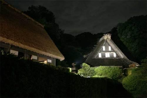 川崎市立日本民家園ライトアップ01